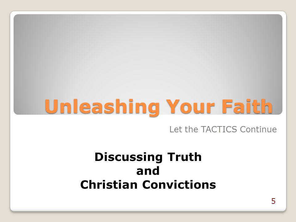 Christian Convictions
