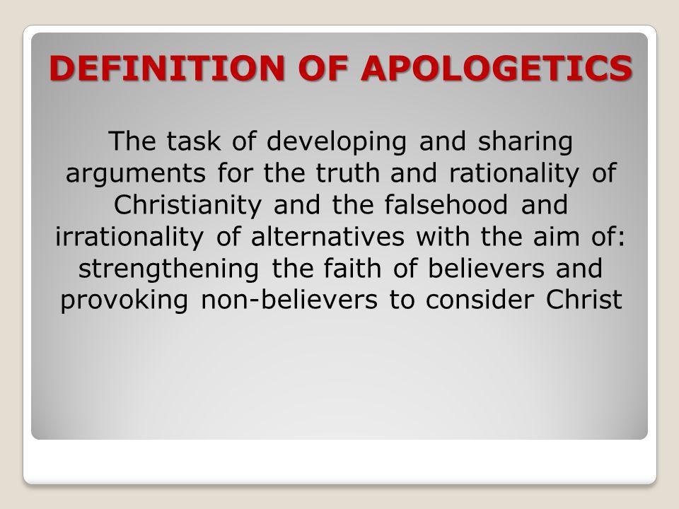 DEFINITION OF APOLOGETICS