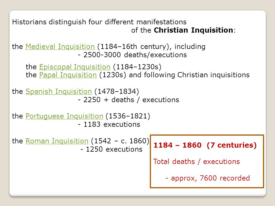 Historians distinguish four different manifestations