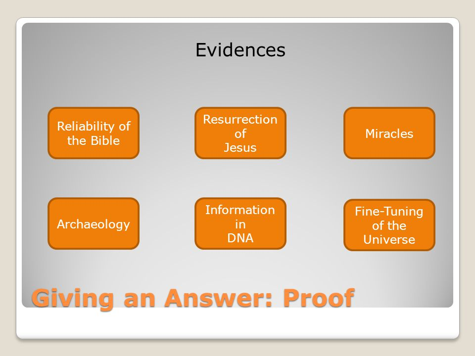 Giving an Answer: Proof