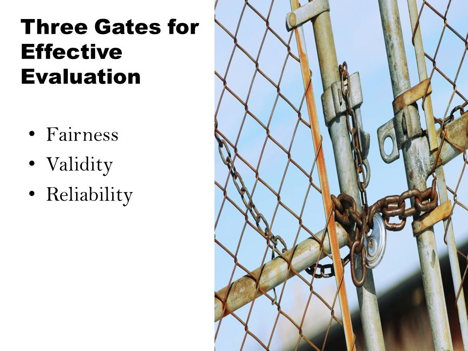 Three Gates for Effective Evaluation