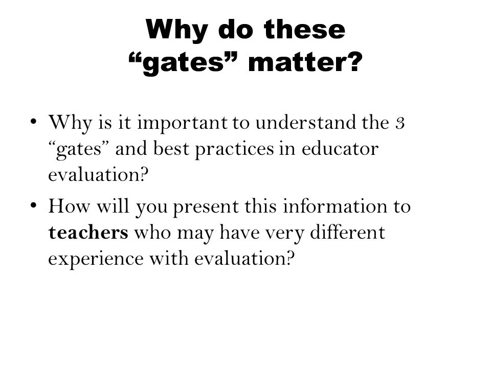 Why do these gates matter