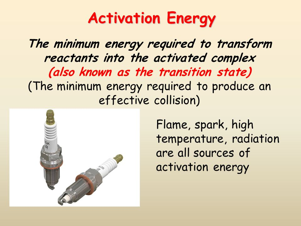 (The minimum energy required to produce an effective collision)
