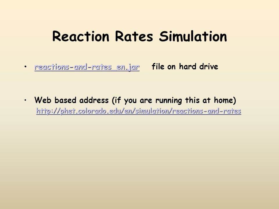 Reaction Rates Simulation