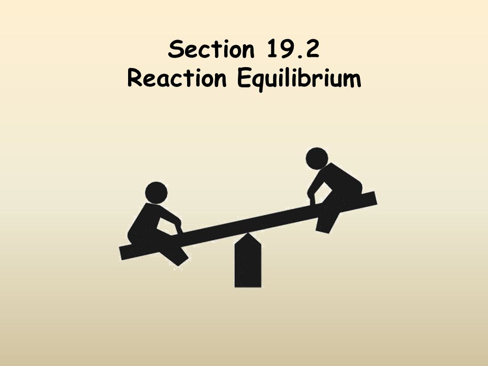 Section 19.2 Reaction Equilibrium
