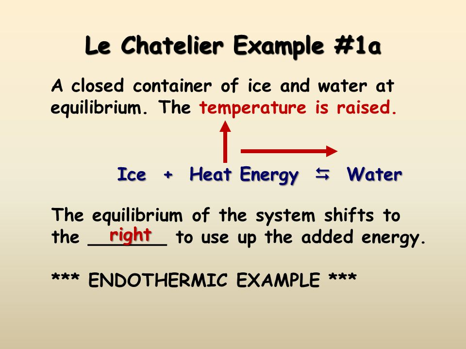 Le Chatelier Example #1a