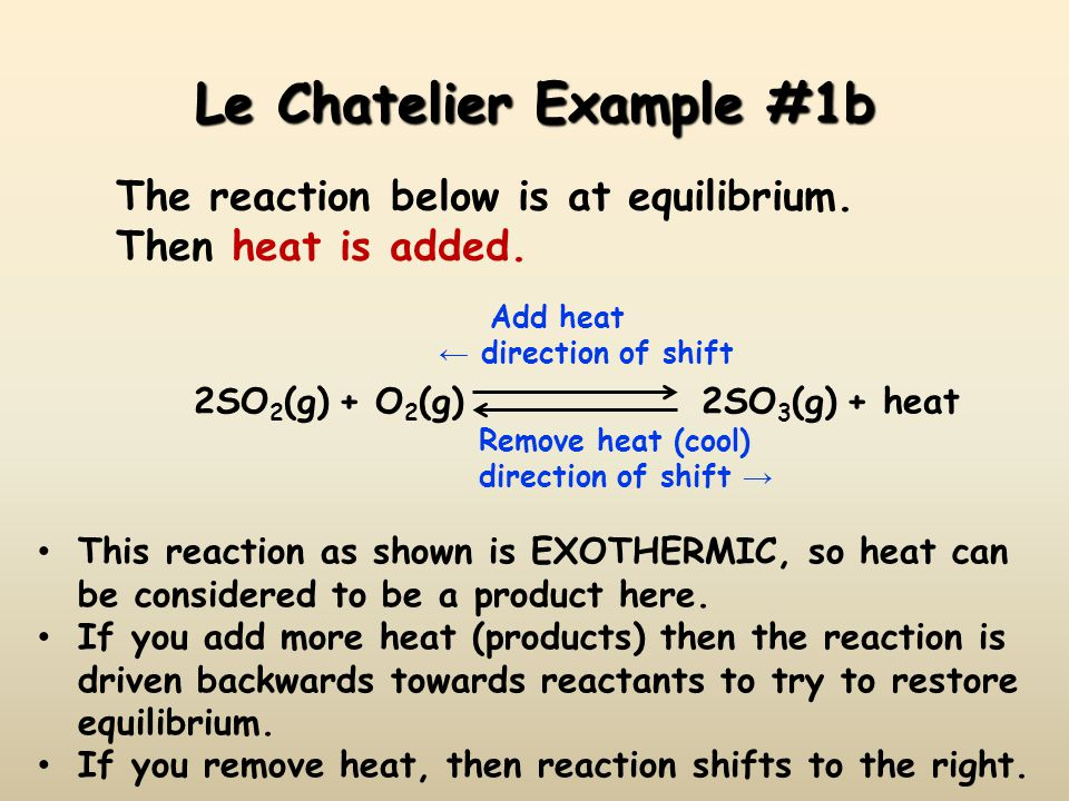 Le Chatelier Example #1b