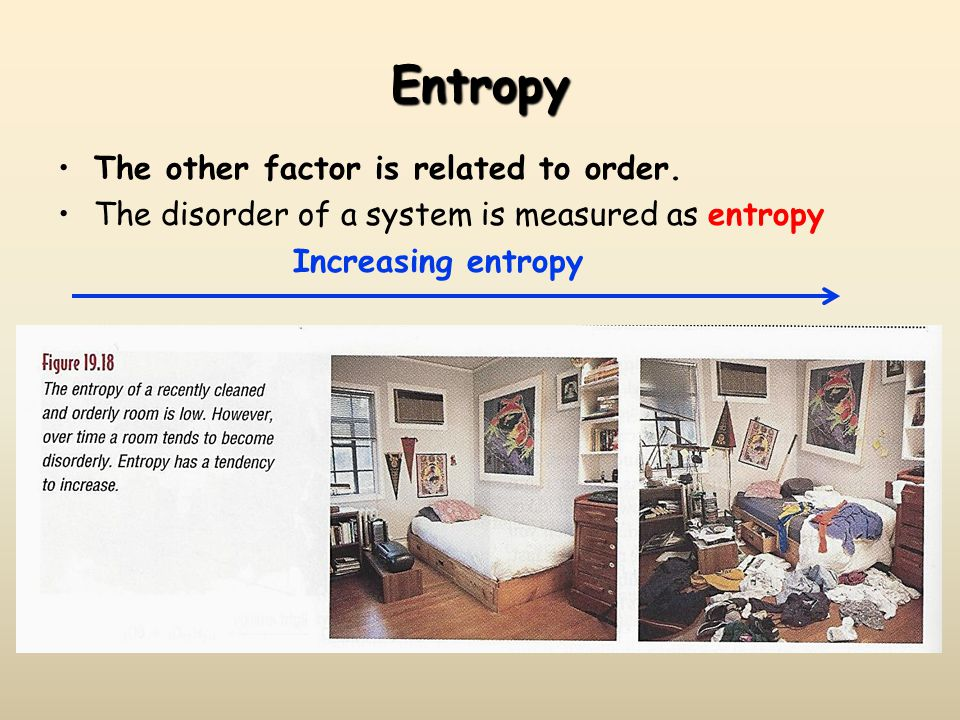 Entropy The other factor is related to order.