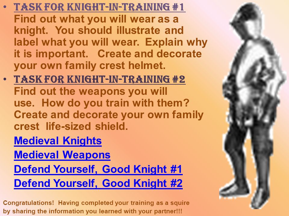 Defend Yourself, Good Knight #1 Defend Yourself, Good Knight #2