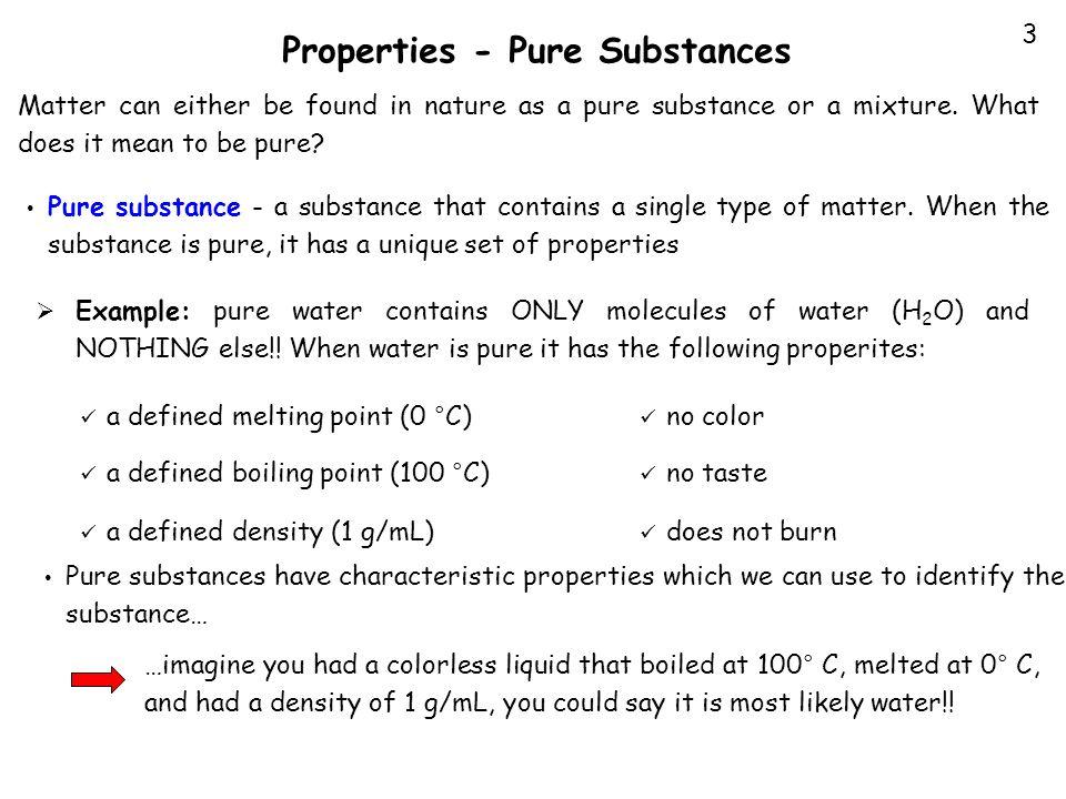 Properties - Pure Substances
