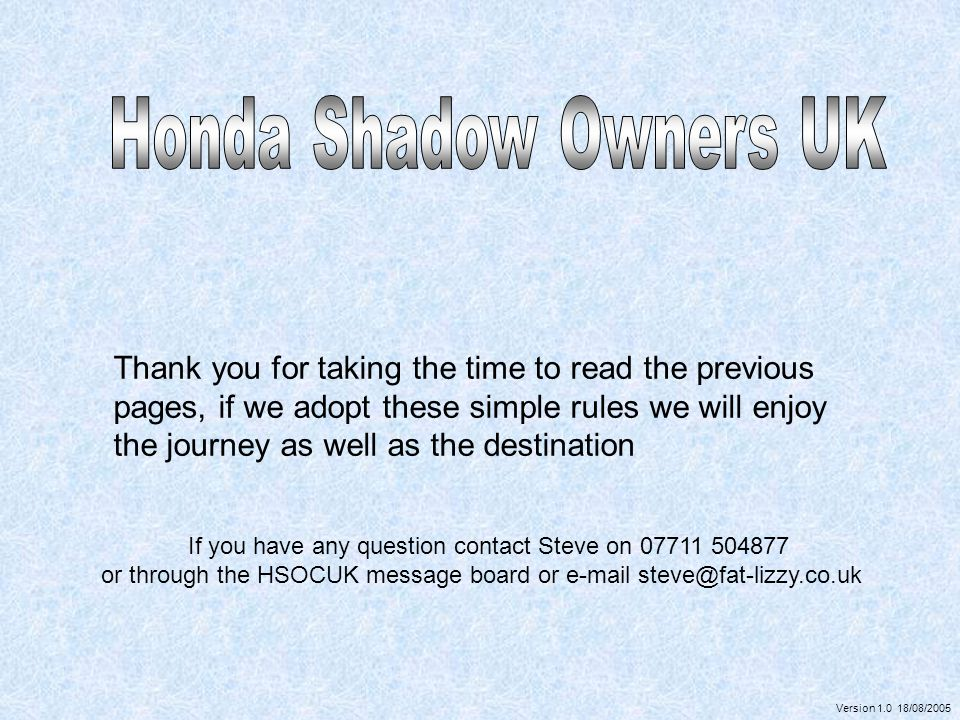 Honda Shadow Owners UK