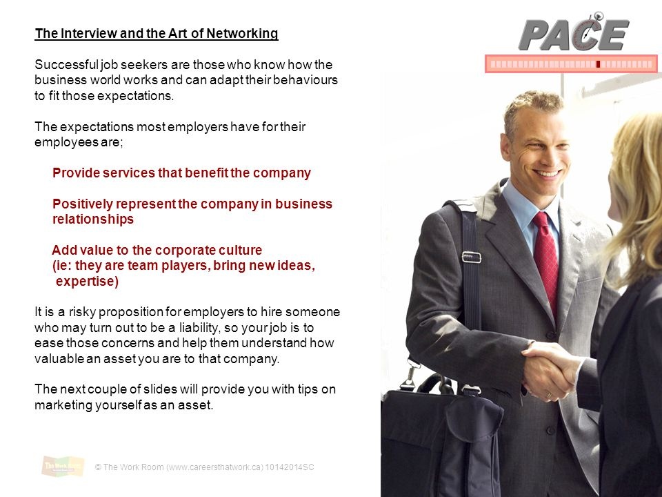 PACE The Interview and the Art of Networking