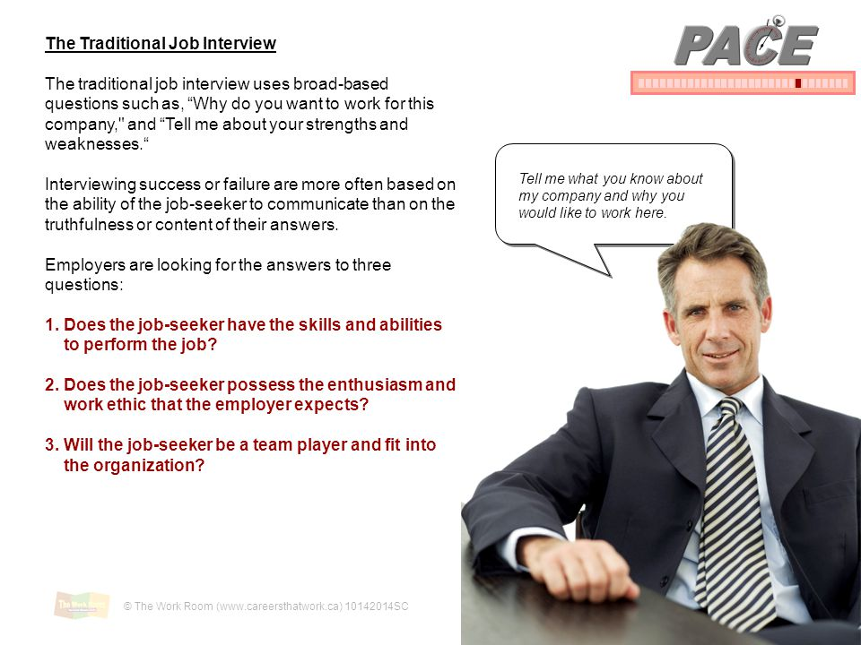 PACE The Traditional Job Interview