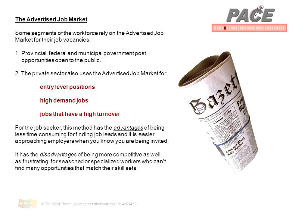 PACE The Advertised Job Market