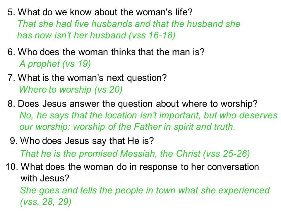 5. What do we know about the woman s life