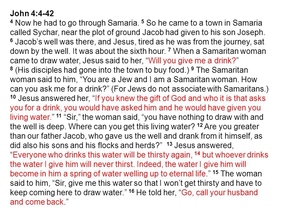 John 4:4-42