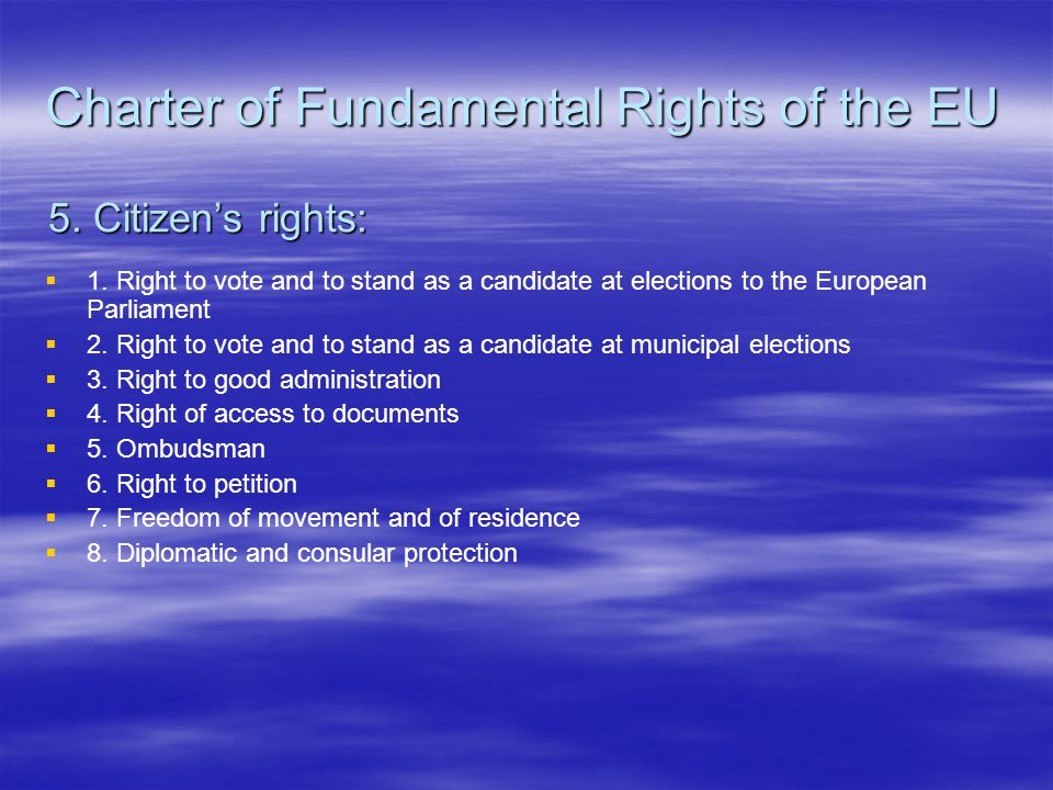 Charter of Fundamental Rights of the EU