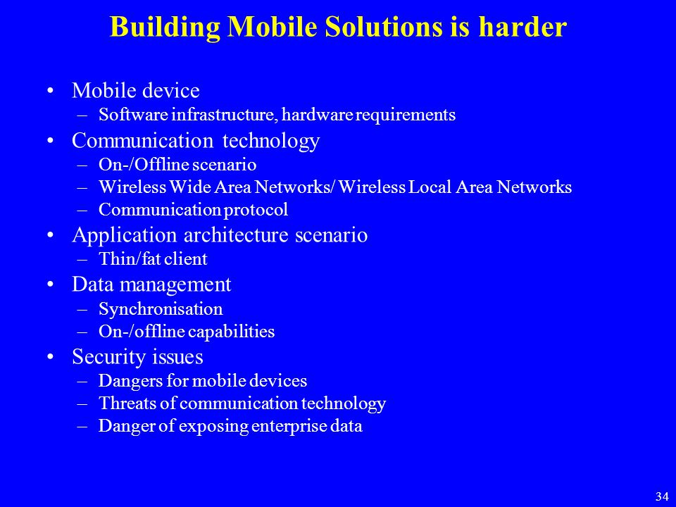 Building Mobile Solutions is harder