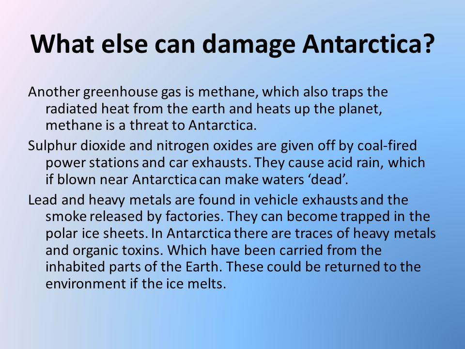What else can damage Antarctica