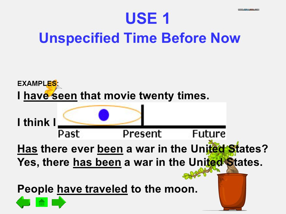 USE 1 Unspecified Time Before Now
