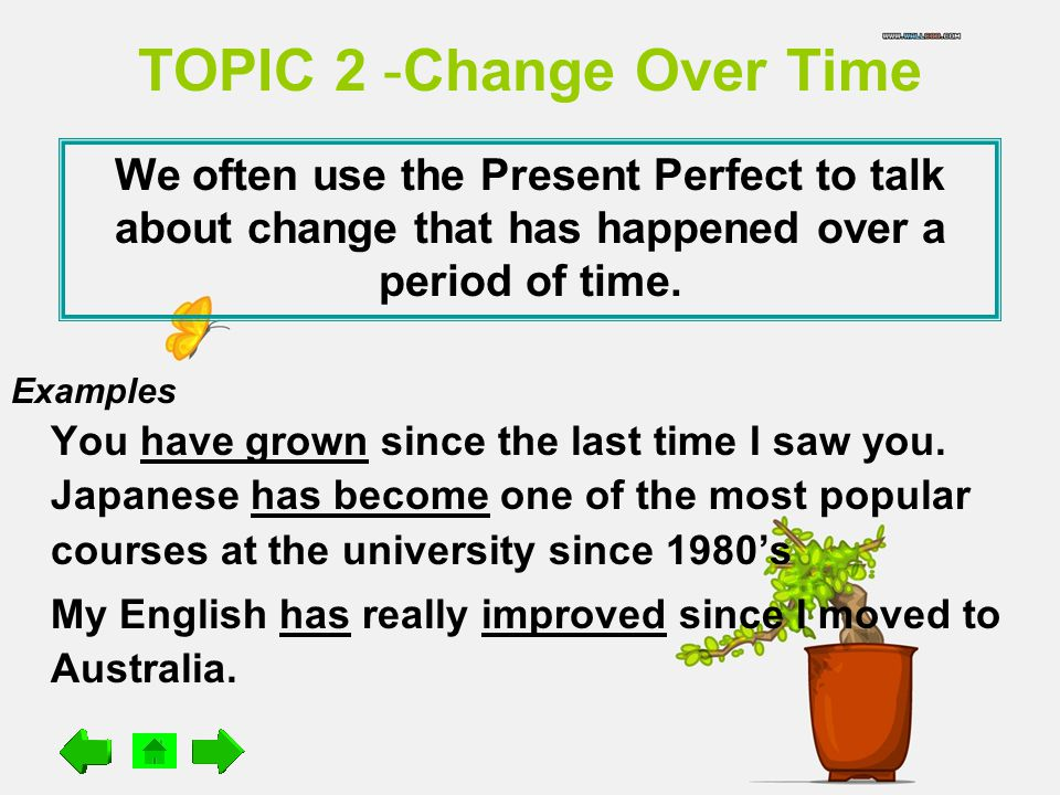 TOPIC 2 -Change Over Time