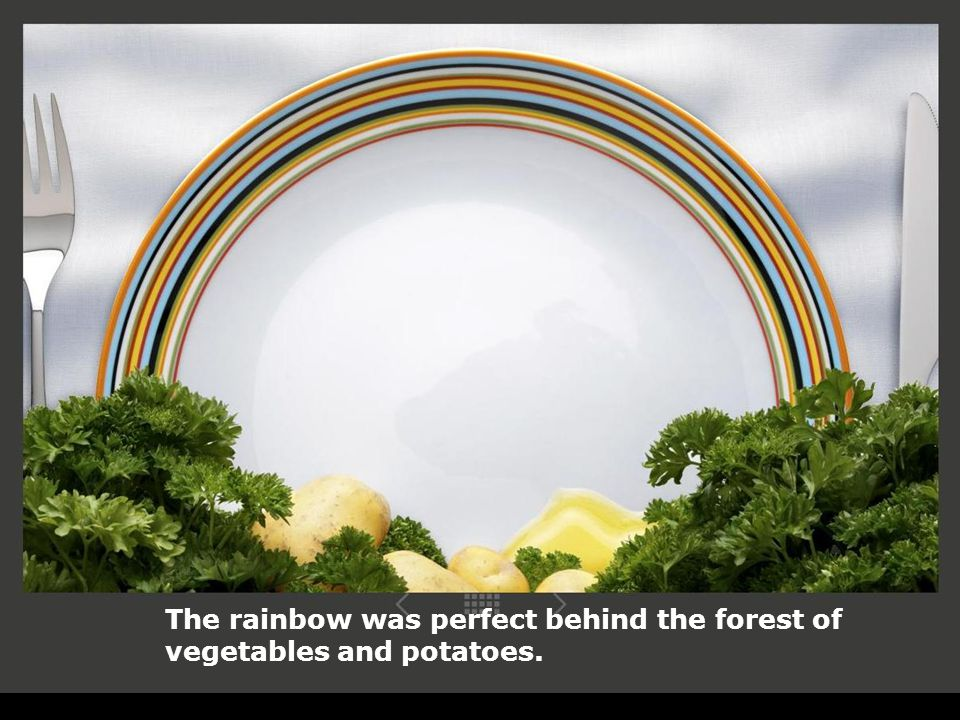 The rainbow was perfect behind the forest of