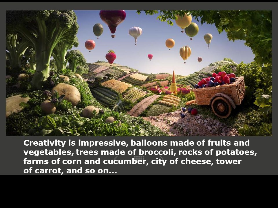 Creativity is impressive, balloons made of fruits and