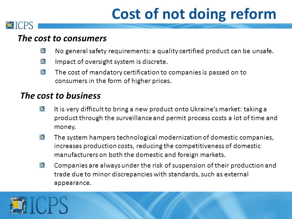 Cost of not doing reform