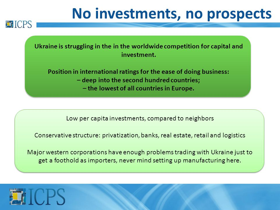 No investments, no prospects