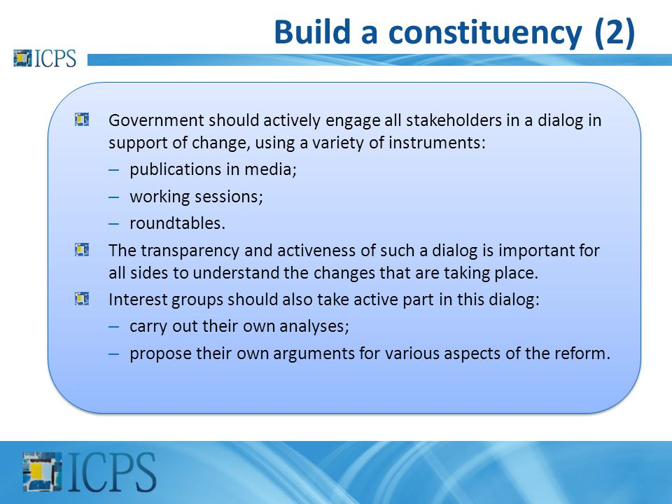 Build a constituency (2)