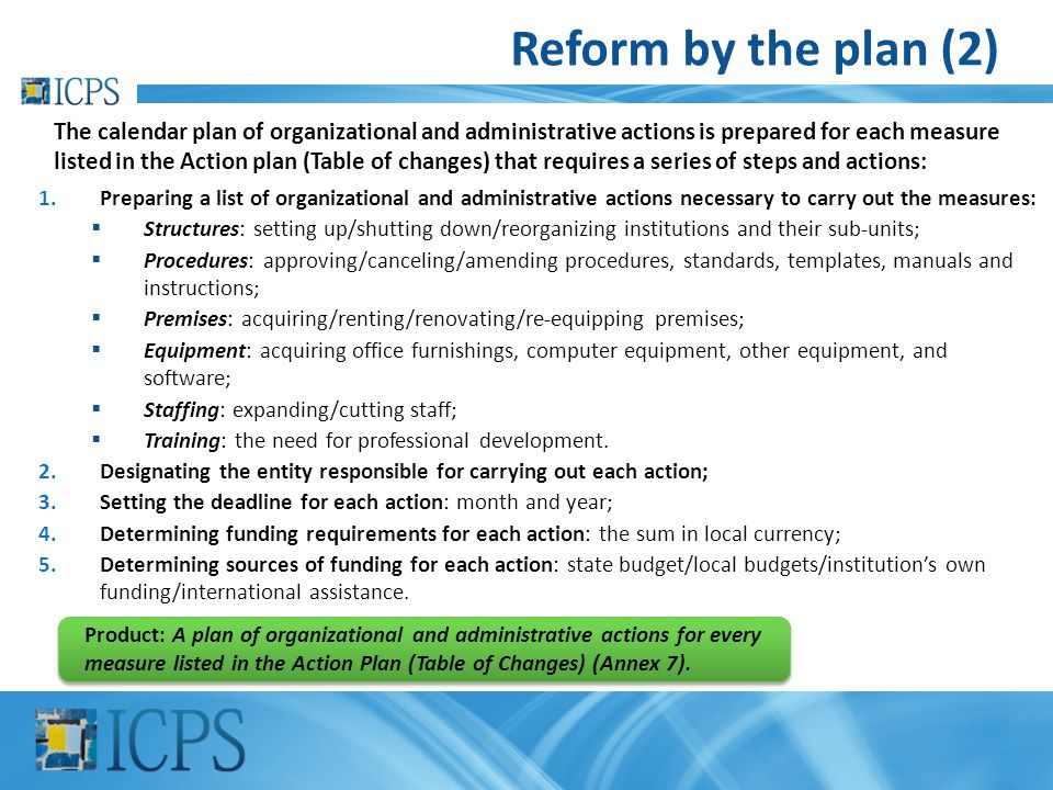 Reform by the plan (2)