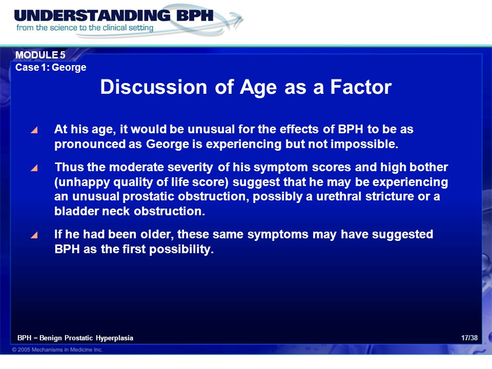 Discussion of Age as a Factor