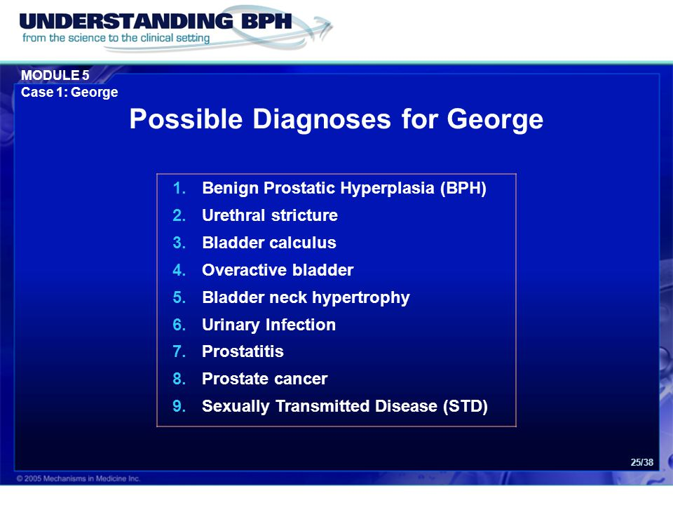 Possible Diagnoses for George