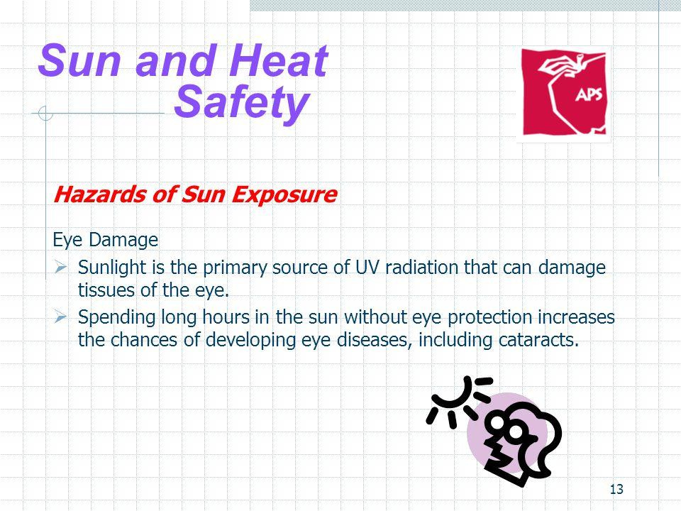 Sun and Heat Safety Hazards of Sun Exposure Eye Damage