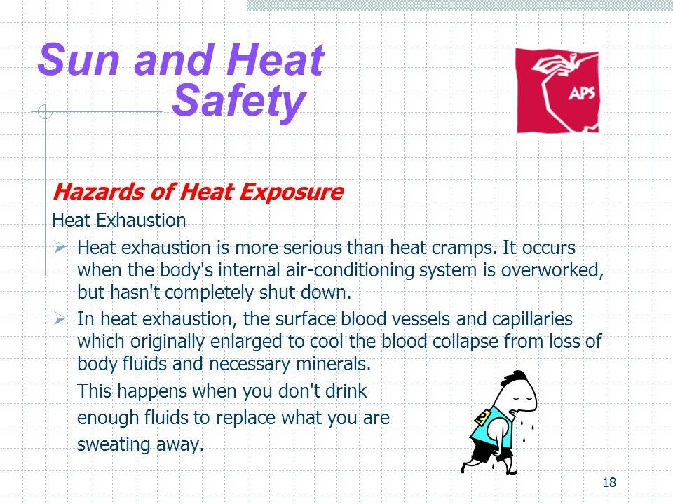 Sun and Heat Safety Hazards of Heat Exposure Heat Exhaustion