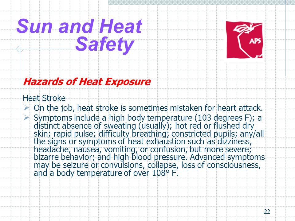 Sun and Heat Safety Hazards of Heat Exposure Heat Stroke