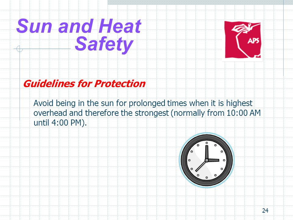Sun and Heat Safety Guidelines for Protection