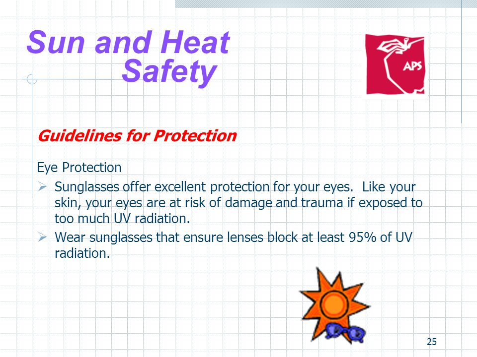 Sun and Heat Safety Guidelines for Protection Eye Protection