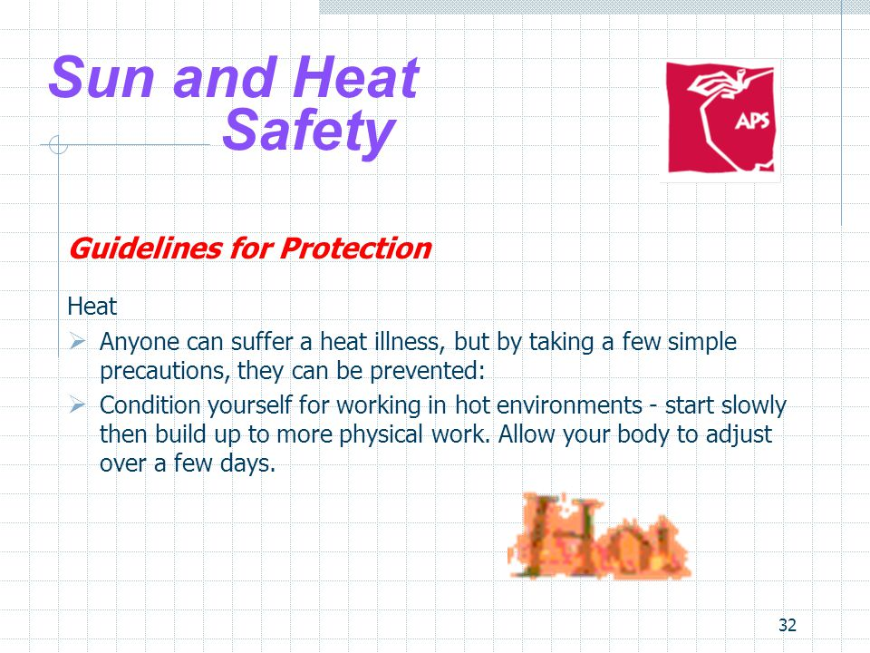 Sun and Heat Safety Guidelines for Protection Heat