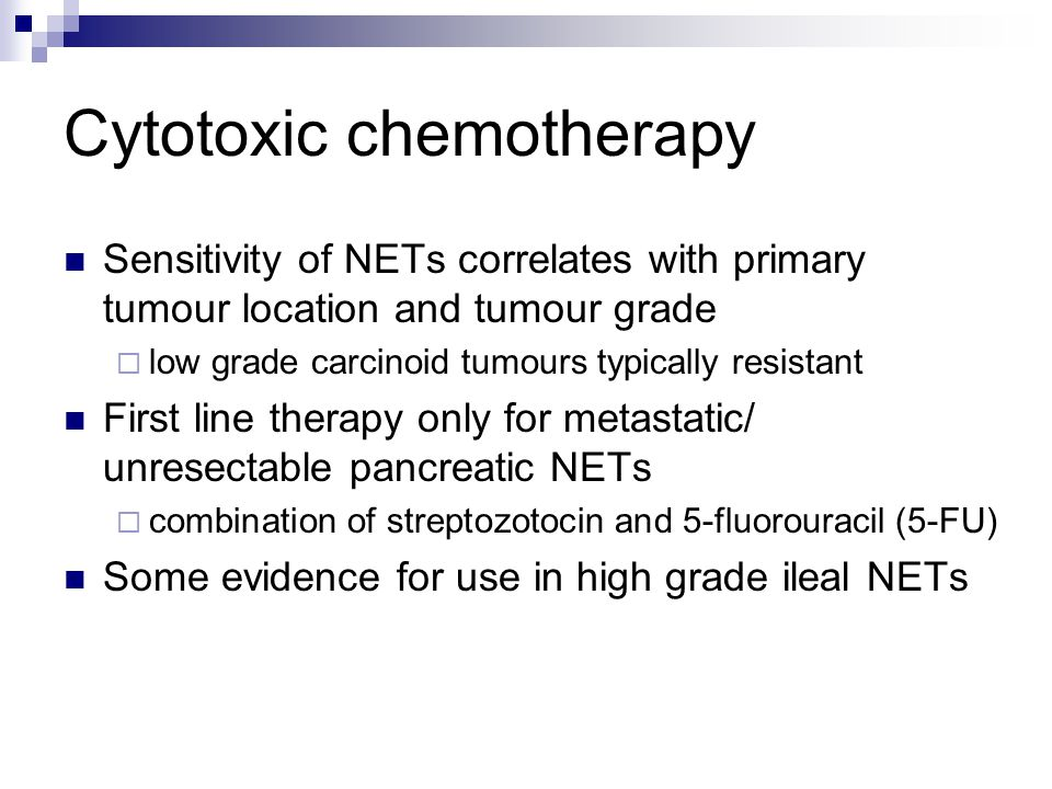 Cytotoxic chemotherapy