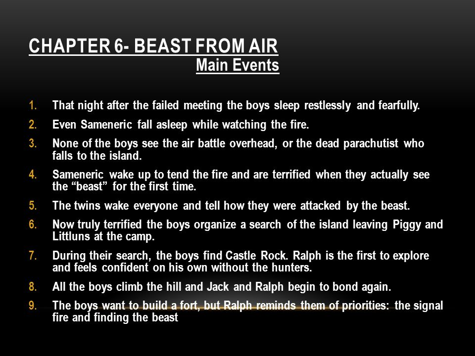 Chapter 6- Beast From Air