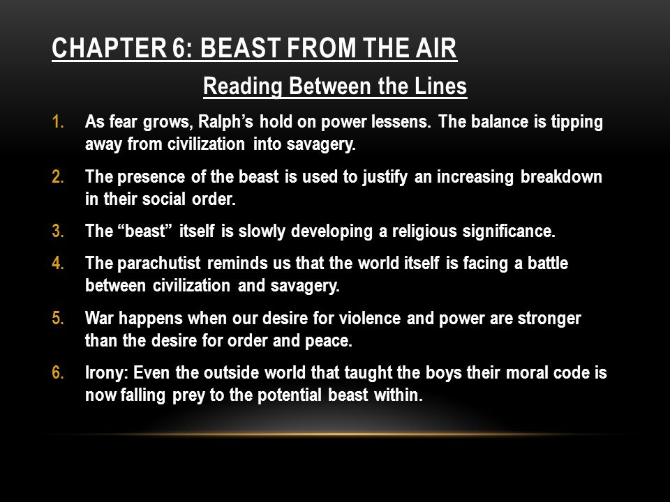 ChAPTER 6: Beast from the Air