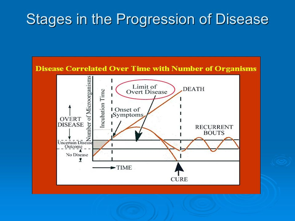 Stages in the Progression of Disease
