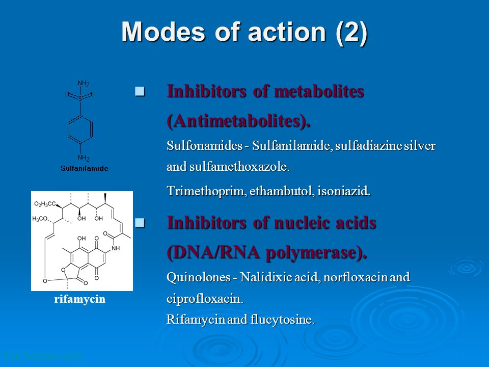 Modes of action (2)