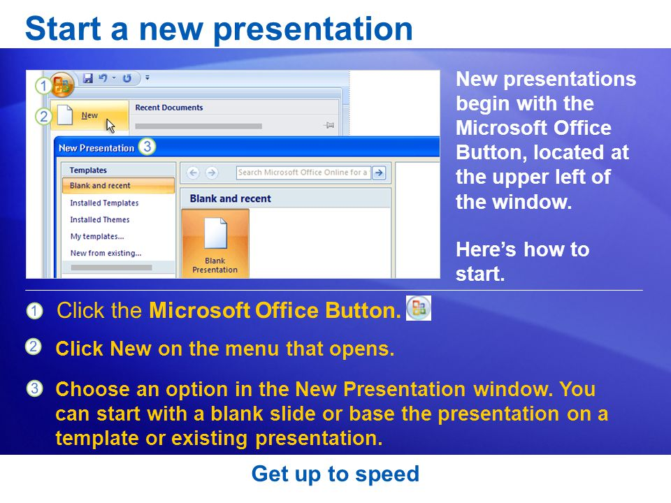 Start a new presentation