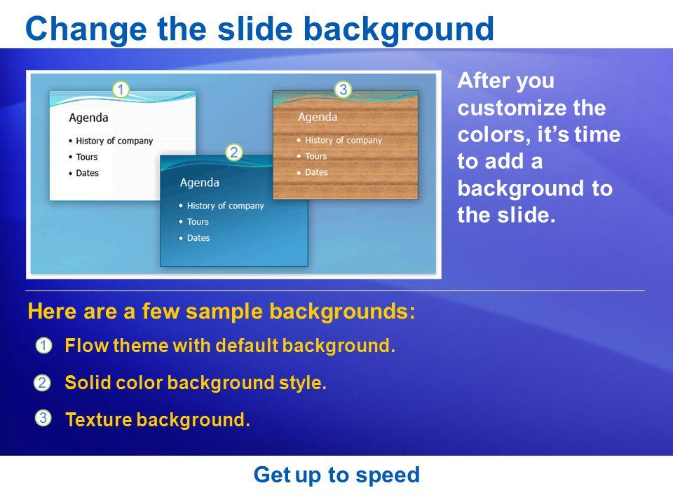 Change the slide background