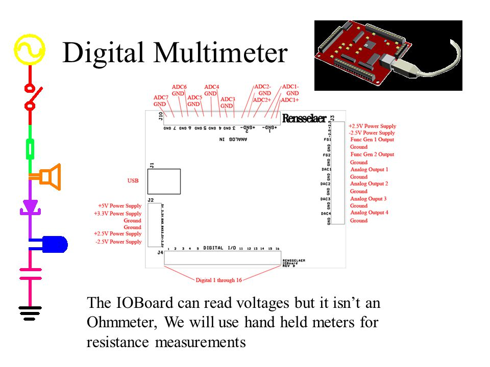 Digital Multimeter Called DMM.