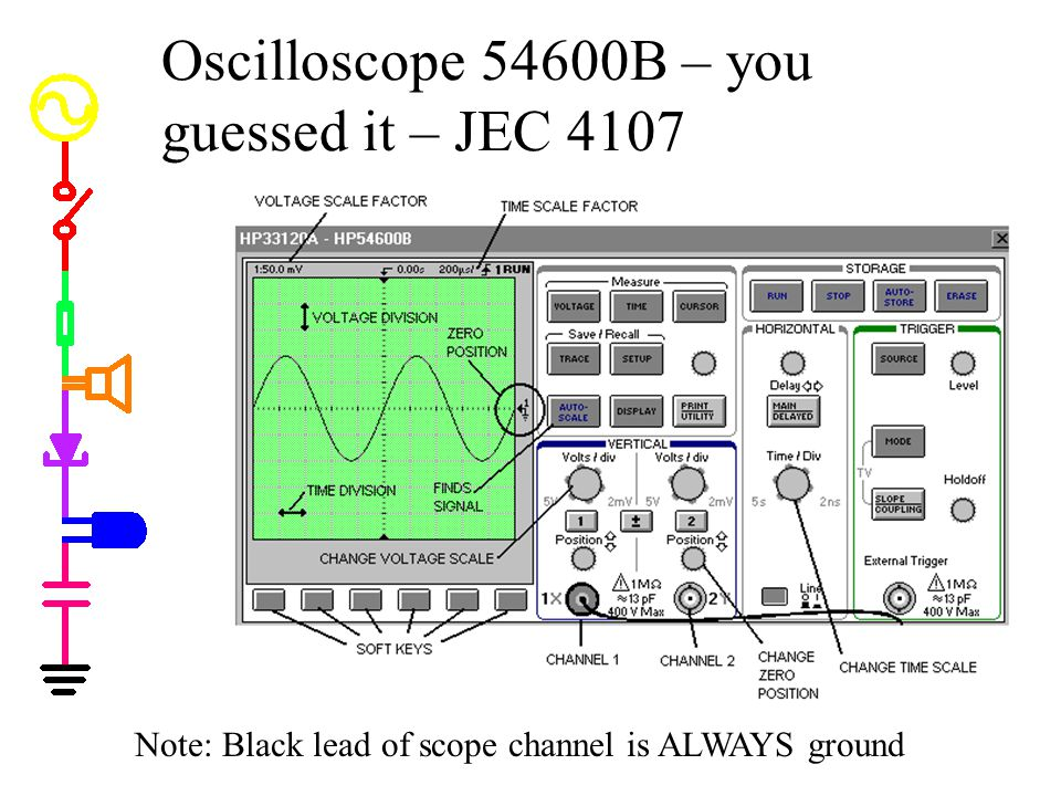 Oscilloscope 54600B – you guessed it – JEC 4107