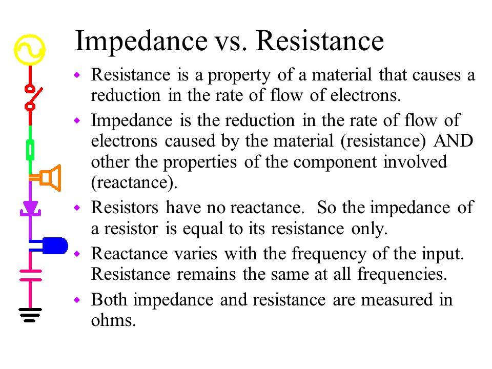 Impedance vs. Resistance