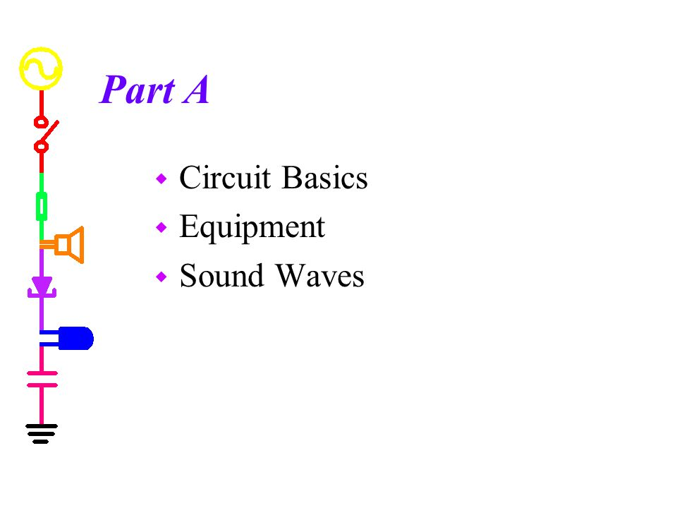 Part A Circuit Basics Equipment Sound Waves